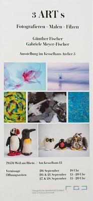 """Vernissage Ausstellung """"3 ART s"""" am 20. September um 18 Uhr von Günther Fischer und Gabriele Meyer-Fischer"""